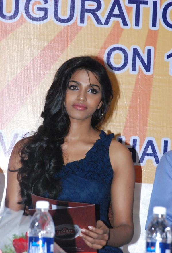 Dhanshika At Bhavya Cement Inauguration