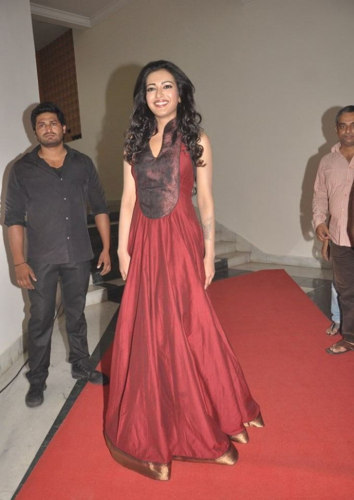 Katherine Theresa Looking Hot at 'Iddarammayilatho' Audio Launch
