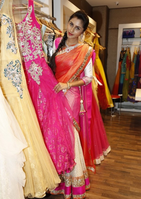 Models at Neeru's Wedding Collection 2013 Launch in Hyderabad