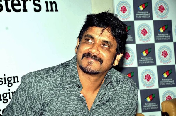 Nagarjuna at AISFM Film School and JNAFU's Announcement in Hyderabad